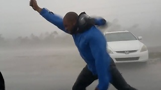 He Can Always Say He Withstood Hurricane Irma's 185-mph Winds - Video