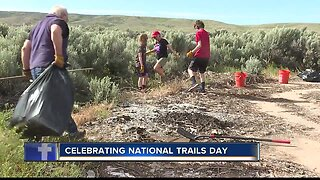 Volunteers clean up trails for National Trails Day