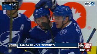 Tyler Johnson and Cedric Paquette lead Tampa Bay Lightning past Toronto Maple Leafs 6-2