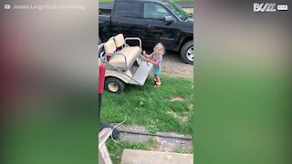 5-year-old girl captures snake with bare hands