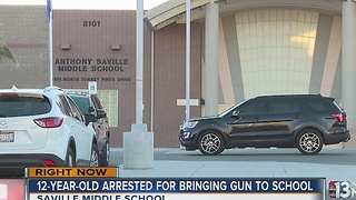 12-year-old brings gun to Saville Middle School on Friday - Video
