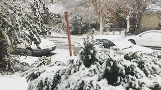 Ellensburg Residents Wake Up to Fresh Snowfall, Slick Conditions - Video