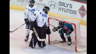 Belfast Ice Hockey Player 'Scores' by the Seat of His Pants - Video