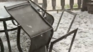 Hail Storm Pounds Mississippi Ranch - Video