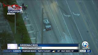 Pedestrian hit by vehicle near Greenacres