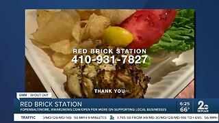 "Red Brick Station says ""We're Open Baltimore!"""