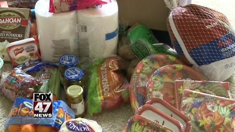 DeWitt neighborhood comes together to bring Thanksgiving to local family in need