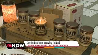 Candle business brewing in Novi; Couple makes & sells coffee candles - Video