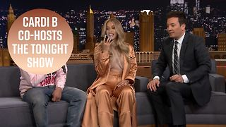 5 Funniest moments from Cardi B co-hosting Tonight Show - Video