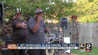 Baltimore neighborhood celebrates one year of being homicide free - Video