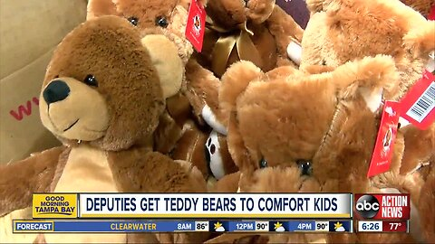 More than 600 teddy bears donated to sheriff's office so deputies can comfort children