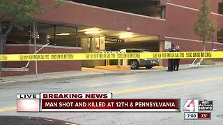 Man shot and killed 12th & Pennsulvania - Video
