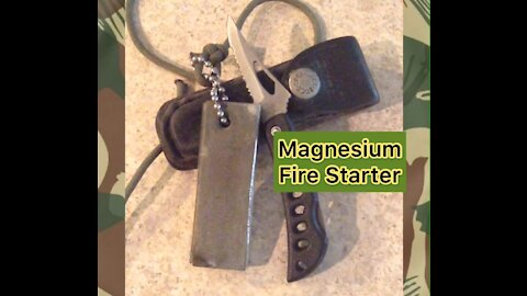 Using the GI Issued Magnesium Fire Starter