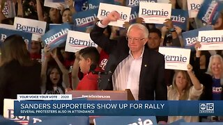 Sanders supporters show up for rally