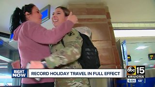 Record travel numbers expected over Christmas time