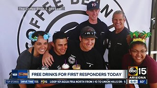 Coffee Bean and Tea Leaf gives free drinks to first responders