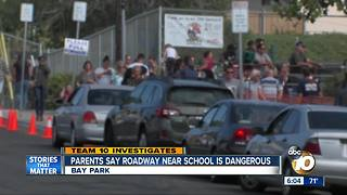 TEAM 10: parents say roadway near school is dangerous - Video