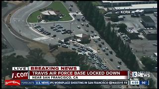 Northern California Air Force base on security lockdown - Video