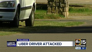 Uber driver attacked, throat slit by passenger in Tolleson