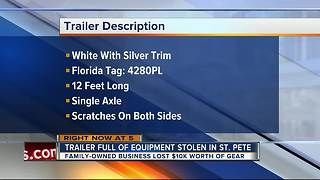 Brazen thief steals trailer from church lot - Video