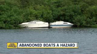 Dozens of abandoned boats are littering Tampa Bay waterways - Video