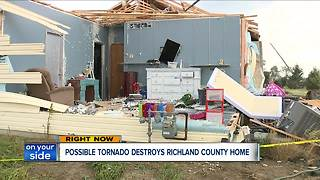 Tornado throws woman and child from home in Richland County - Video