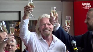 Riding the train with Richard Branson