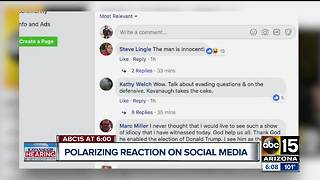 Social media reaction pouring in after Kavanaugh hearing - Video