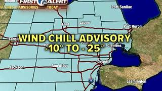 Dangerously cold Wednesday - Video