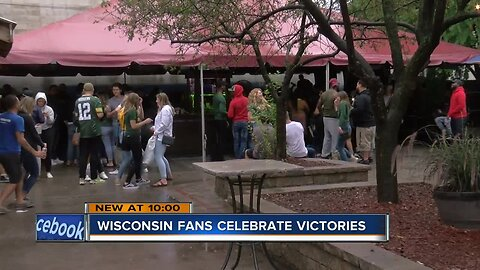 """We love our sports"": Wisconsin fans celebrate winning weekend"