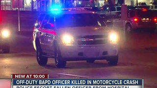 Off duty Broken Arrow Officer dies in motorcycle accident - Video