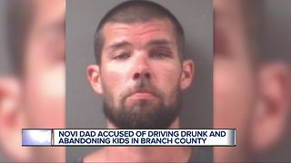 Novi father accused of driving Super Drunk with young children in the car - Video
