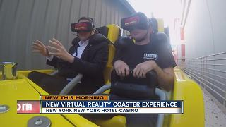 The new virtual reality coaster in Las Vegas takes you on an alien adventure - Video