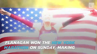 American Woman Wins New York Marathon for First Time in 40 Years - Video