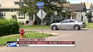 Buffalo Police are investigating a late-night shooting that seriously injured a four-year old girl.