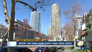 Report: San Diego home supply near crisis levels - Video