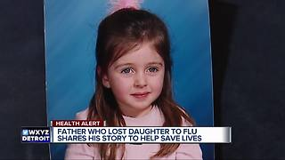 Dad who lost his little girl to the flu encourages others to get vaccinated - Video