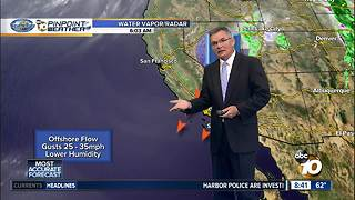 10News PinPoint Weather Sunday Morning - Video