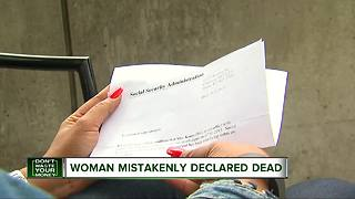 Woman mistakenly declared dead - Video
