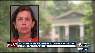 Woman allegedly kills husband with eye drops