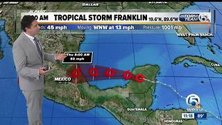 Tropical Storm Franklin 11 a.m. Tuesday update - Video