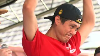 Meet the world's first cheese curd-eating champion - Video
