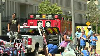 Child suffers road rash in Lansing Parade incident