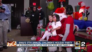 Sinai's hospital 17th annual children's holiday party - Video
