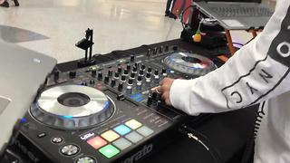 Student DJs perform for EDC arrivals - Video
