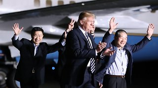 Trump Welcomes 3 American Men Freed From North Korea - Video