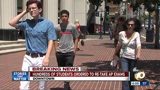 Hundreds students ordered to re-take AP exams - Video