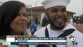 USS Carl Vinson sailor talks to 10News after returning to San Diego - Video