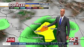 A Flash Flood Watch is in effect for Kern County on Sunday! - Video