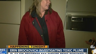 Erin Brockovich investigating toxic plume - Video